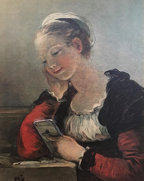Girl on her phone