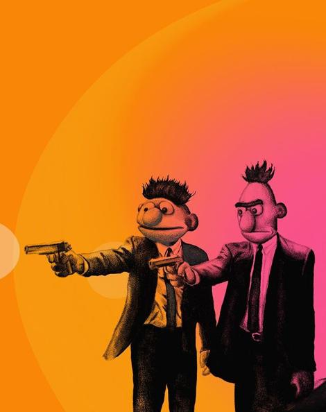 Two men holding a gun