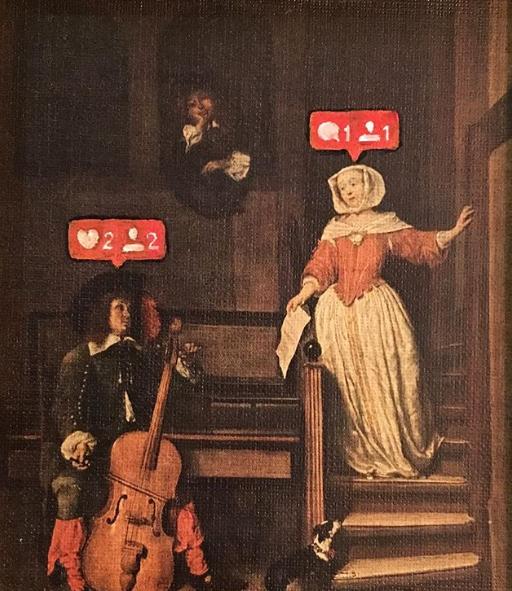 Social media likes on people
